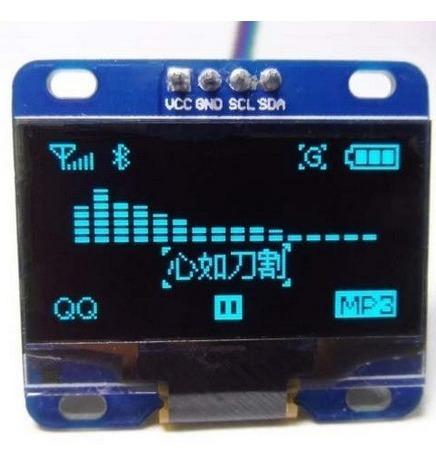Display Lcd Oled Para Arduino Pic 0.96 I2c Azul