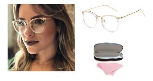 Gafas Montura Lentes Oftalmico Marco Para Dama + Estuche