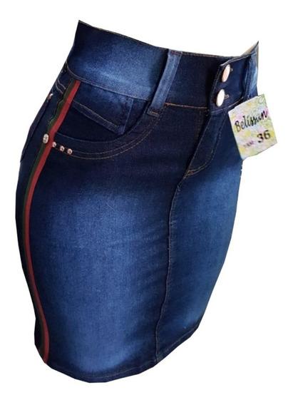 Kit Com 4 Saia Jeans Moda Evangelica Elastano Varios Modelos