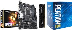 Kit Gamer H310m M.2 + Cpu G5400 + 8gb Ddr4 Intel 8º Geração