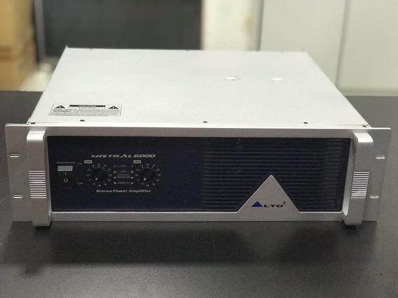 Amplificador De Potência Estéreo Mistral 6000, 3000 W Rms