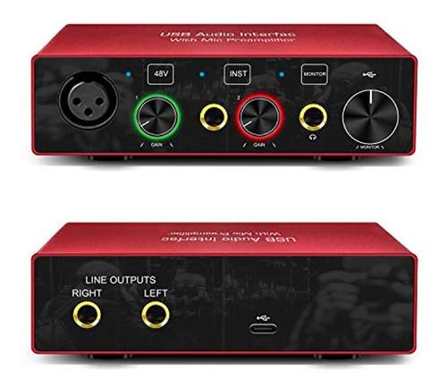 Imagen 1 de 4 de Interfaz De Audio Interfaz De Audio Usb Con Preamplificador
