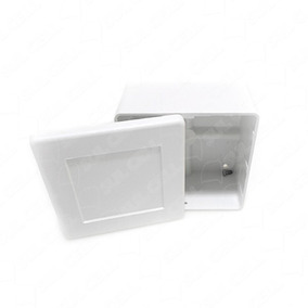 30 Caixas De Sobrepor Balun Cftv Quadrada Branca Tampa Cega