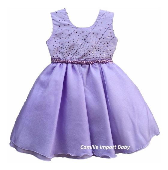 Vestido Infantil Princesa Sofia Super Luxo Mega Oferta