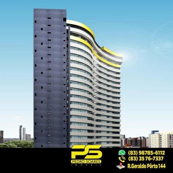 (oferta) Flat Em Miramar Com 34,57 M² - Fl0053