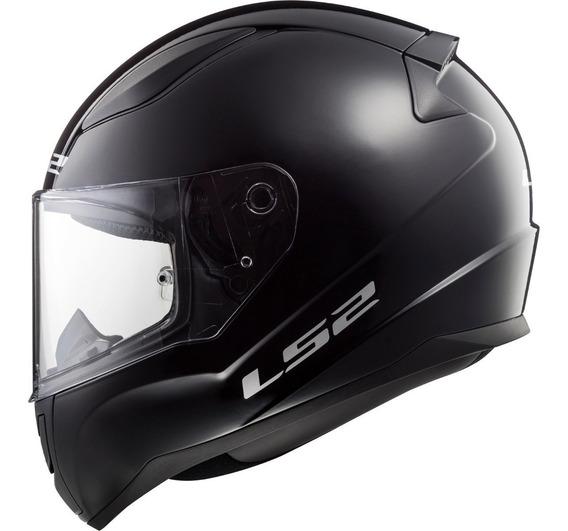 Casco Integral Ls2 Rapid Para Moto Negro Mate Seguridad Euro