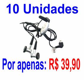 Lote 10 Fone De Ouvido Mono Motorola Syn0896-98733 A0610