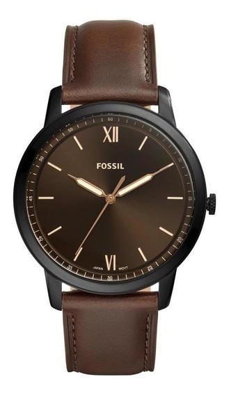Relógio Fossil The Minimalist Masculino Marrom Fs5551/0mn
