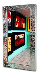 Espejo Con Marco De Vitral Espejo Decorativo