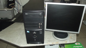 Cpu Completa Dual Core 2gb Hd 160 C/ Monitor