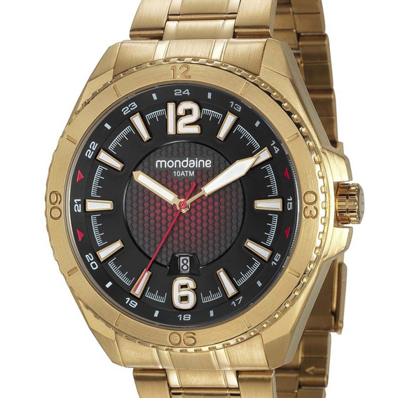 Relógio Mondaine Masculino 53696gpmvds1 Dourado Original