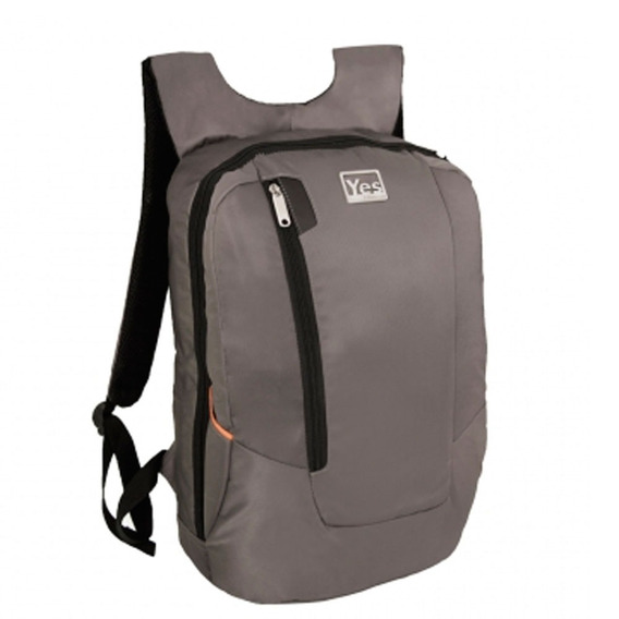 Mochila Para Notebook Premium Cinza Yes Mc1518n