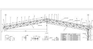 Projeto De Um Galpão De 20,00 X 40,00 De Estrutura Metálica