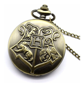 Kit 10 Relógios De Bolso Harry Potter Hogwarts
