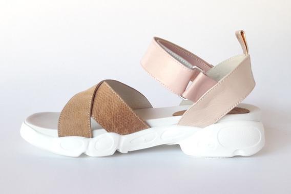 Sandalias Zapatillas Cuero Livianas Cómodas Quica Moda 2020