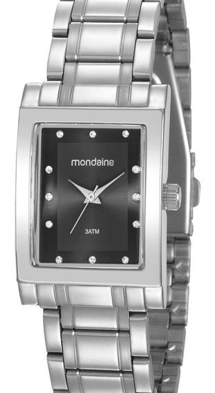 Relógio Mondaine Feminino Prata Quadrado 32103l0mvne2