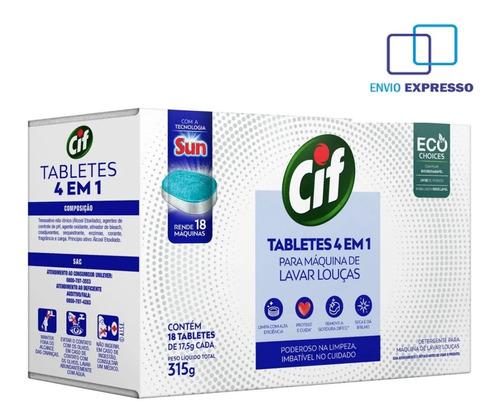 Tablete Máquina De Lavar Louças 4em1 Cif 315g