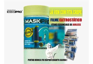 Kit 10un. Filme De Mascaramento Com Fita Crepe 45cm X 20m