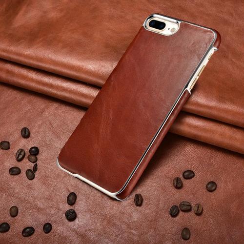 Apple® Leather Carcasa Cuero Genuino iPhone 8 Plus 7 Plus