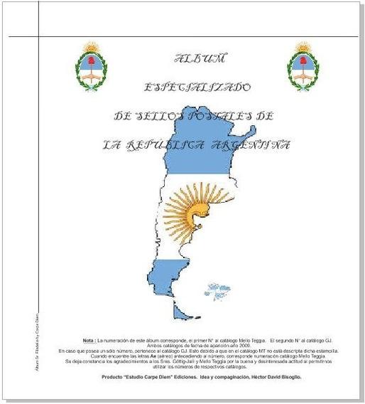 Album Estampillas Argentinas Senior 532 Hojas 1856-2019