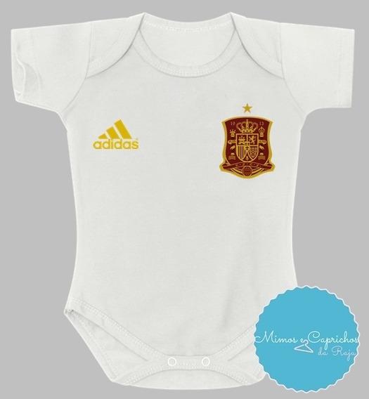 Body Bebê Futebol Camisa Espanha - Copa Da Russia 2018
