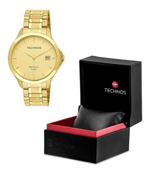 Relógio Masculino Technos Classic Steel 1s13bwtdy4x Gold Nf