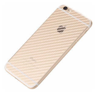 Skin Fibra Carbono Transparente Sticker iPhone 7 Y 7 Plus