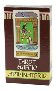 Tarot Egipcio Adivinatorio 78 Cartas Naipes Comas Con Manual