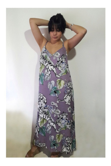 Maxi Vestido Lila Informal