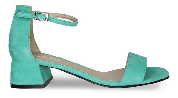 Sandalia De Mujer Fiori Modelo 3410 Gamuza Verde