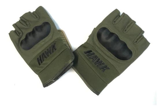 Guantes Hawk Army Verde Dedos Protecciones Motos Miguel