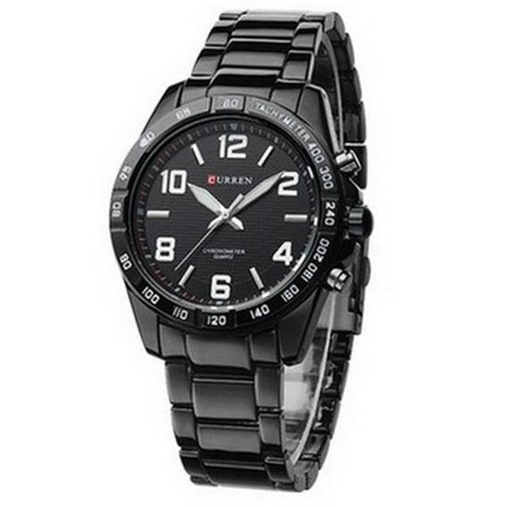 Relógio Masculino De Pulso Curren Analógico 8107 Preto