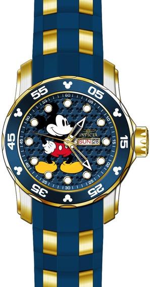 Relógio Aço Azul Invicta Disney Mickey Original
