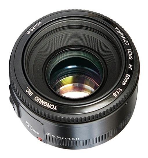 Lente Yongnuo Yn 50mm F / 1.8 Para Câmeras Canon Ef