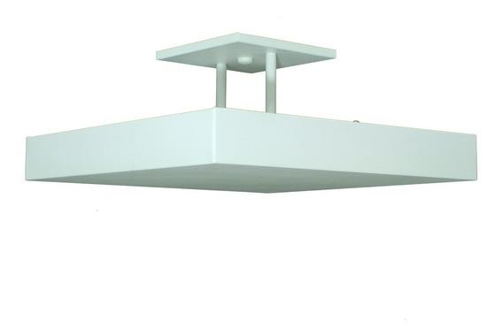 Lustre Plafon Pendente Sobrepor Luz Indireta 30x30