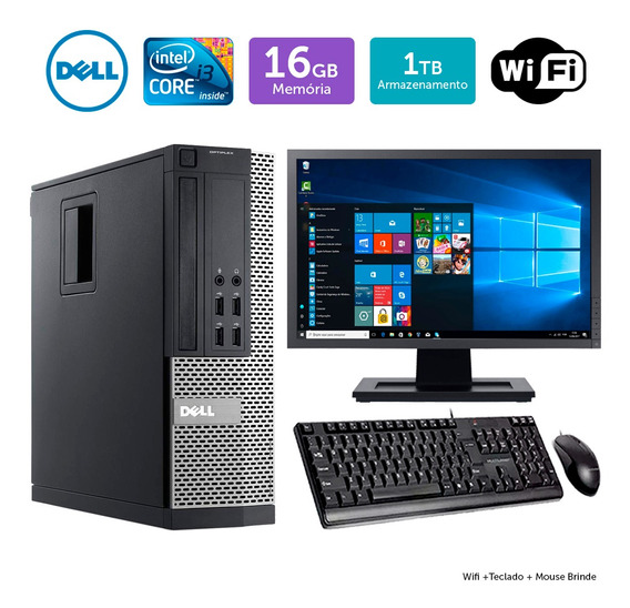 Computador Usado Dell Optiplex 9020sff I3 16gb 1tb Mon19w