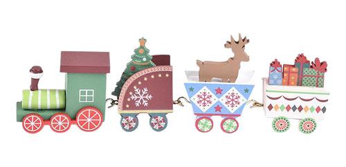 Imagen 1 de 9 de Adornos De Fiesta De Tren Árbol De Navidad Juego De Vistoso