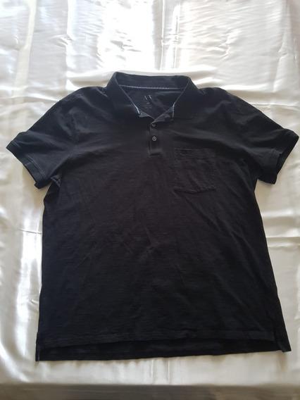 Camisa Tipo Polo Armani Exchange Negra Talla Xxl
