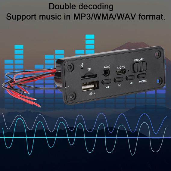 Mp3 Decoder Board Usb/tf/ Reader Ir Remoto Bluetooth/fm Carr