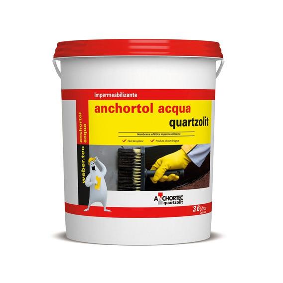 Pintura Asfaltica Acqua 3,6lts Preto Quartzolit Quartzolit