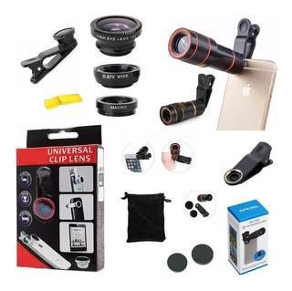 Kit Luneta Zoom 8x Telescópio + Kit Lentes Celular Universal