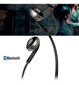 Fone De Ouvido Jbl T205 Bt Bluetooth Preto Earbuds Sem Fio