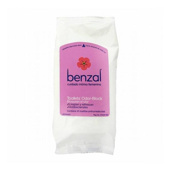 Benzal Toallitas Prehumedecidas Odor Black 20 Piezas