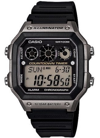 Casio Reloj Clasico Digital Correa De Resina Negra 100% Orig