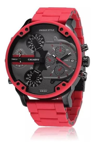 Relógio Cagarny Original Vermelho