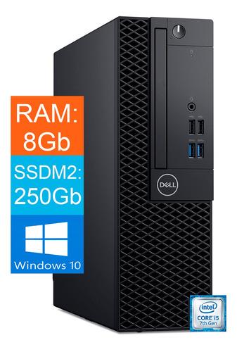 Imagem 1 de 3 de Desktop Dell Optiplex Core I5 7ºgeração 8gb Ssd 2400gb Win10