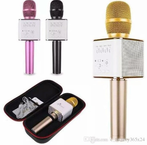 Micrófono Karaoke Con Cornetas Bluetooth Incorporadas Mp3