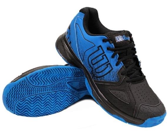 Zapatillas Wilson Padel Tenis Kaos Devo Negro Azul