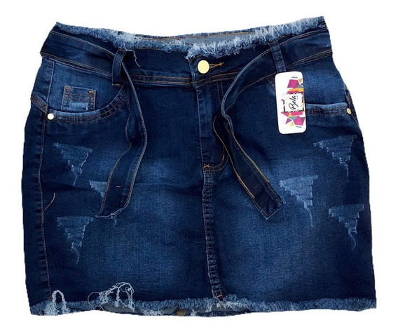 Saia Jeans Feminina Moda Blogueira 2019