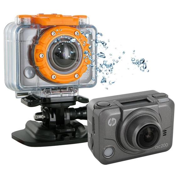 Câmera De Ação Hp Ac200w 5mp Tela Oled De 0.83 Com Wi-fi